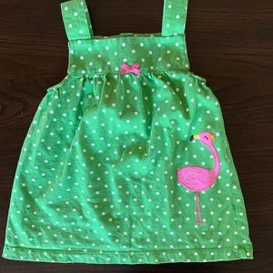 SIPER CUTE FLAMINGO GREeN DREsS 12 MONTHS